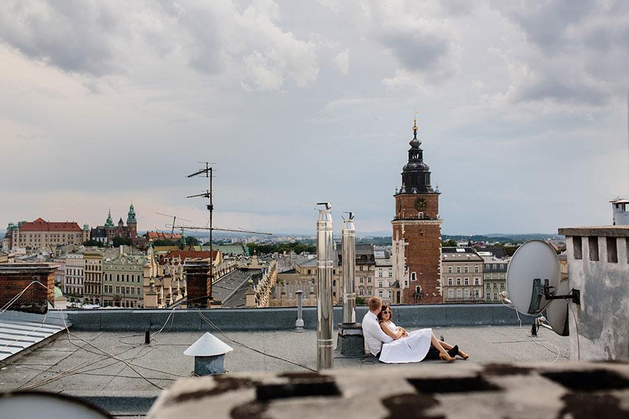 Plener na dachu w Krakowie